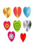 Ensemble d'icône de valentine de coeur Photos stock