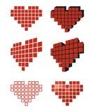 Ensemble d'icône de valentine de coeur Photographie stock libre de droits