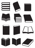 Ensemble d'icône de vecteur de livres Image libre de droits