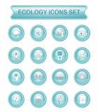 Ensemble d'icône de vecteur de logo d'écologie Images libres de droits
