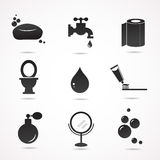 Ensemble d'icône de vecteur de salle de bains Photos libres de droits