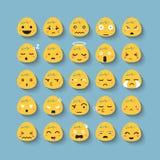 Ensemble d'icône de vecteur de visage d'émotion illustration libre de droits