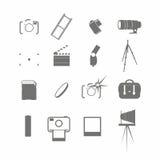 Ensemble d'icône de vidéo et de photo illustration stock