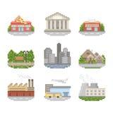 Ensemble d'icône de ville illustration de vecteur