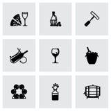Ensemble d'icône de vin de vecteur Image stock