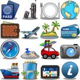 Ensemble d'icône de voyage Photographie stock libre de droits