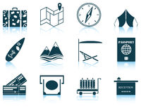 Ensemble d'icône de voyage illustration libre de droits