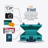 Ensemble d'icône de voyage Heure de voyager conception Dessin de vecteur Photo stock