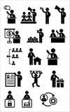 Ensemble d'icône de Web d'affaires Image stock