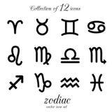 Ensemble d'icône de zodiaque Photo stock