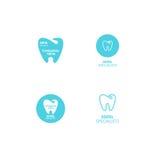 Ensemble d'icône dentaire de dent de logo de clinique Photographie stock libre de droits
