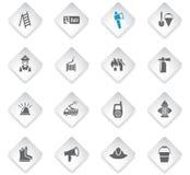 Ensemble d'icône des sapeurs-pompiers illustration de vecteur