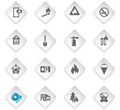 Ensemble d'icône des sapeurs-pompiers illustration stock