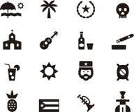 Ensemble d'icône du Cuba illustration de vecteur