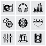 Ensemble d'icône du DJ de vecteur Photos stock