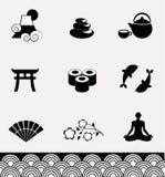 Ensemble d'icône du Japon Image libre de droits