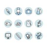 Ensemble d'icône médicale Photos stock