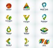 Ensemble d'icônes abstraites de logo de vecteur Photo libre de droits