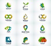 Ensemble d'icônes abstraites de logo de vecteur Photographie stock libre de droits