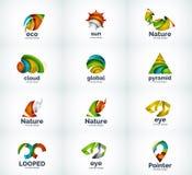 Ensemble d'icônes abstraites de logo de vecteur Photo stock