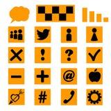 Ensemble d'icônes, calibres pour un site Photos libres de droits
