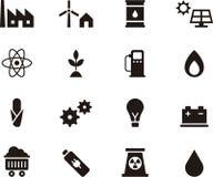 Ensemble d'icônes concernant l'énergie Photographie stock libre de droits