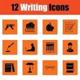 Ensemble d'icônes d'écriture illustration de vecteur