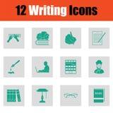 Ensemble d'icônes d'écriture illustration stock