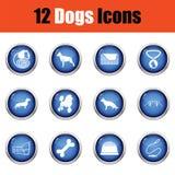 Ensemble d'icônes d'élevage de chien Photo libre de droits