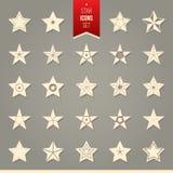 Ensemble d'icônes d'étoile Illustration de Vecteur