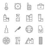 Ensemble d'icônes d'accessoires de voiture illustration libre de droits