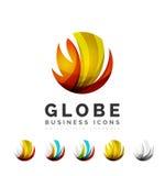 Ensemble d'icônes d'affaires de logo de sphère ou de cercle de globe illustration libre de droits