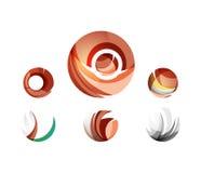 Ensemble d'icônes d'affaires de logo de sphère ou de cercle de globe Images stock