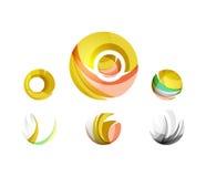 Ensemble d'icônes d'affaires de logo de sphère ou de cercle de globe Images libres de droits