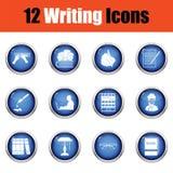 Ensemble d'icônes d'auteur illustration de vecteur