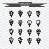 Ensemble d'icônes d'indicateur de carte pour le site Web et la communication Photo stock