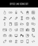 Ensemble d'icônes de bureau dans la ligne style mince moderne Photos stock