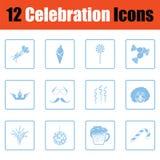 Ensemble d'icônes de célébration illustration libre de droits