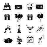 Ensemble d'icônes de célébration, symboles Photographie stock libre de droits