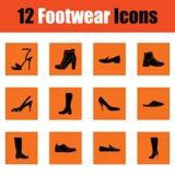 Ensemble d'icônes de chaussures illustration libre de droits