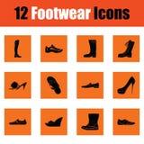Ensemble d'icônes de chaussures illustration de vecteur