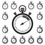 Ensemble d'icônes de chronomètre Illustration Libre de Droits