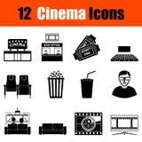 Ensemble d'icônes de cinéma illustration de vecteur