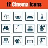 Ensemble d'icônes de cinéma illustration stock
