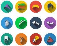 Ensemble d'icônes de coiffeur illustration stock