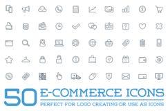 Ensemble d'icônes de commerce électronique de vecteur illustration libre de droits