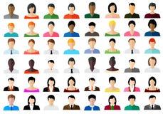 Ensemble d'icônes de couleur d'avatar Image libre de droits