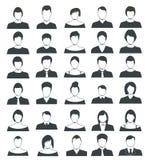 Ensemble d'icônes de couleur d'avatar Photo stock