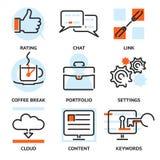 Ensemble d'icônes de découpe de SEO Photo libre de droits