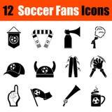 Ensemble d'icônes de fans de foot illustration libre de droits